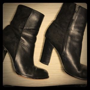 Sam Edelman Suede/Leather Ankle Boots - 7.5